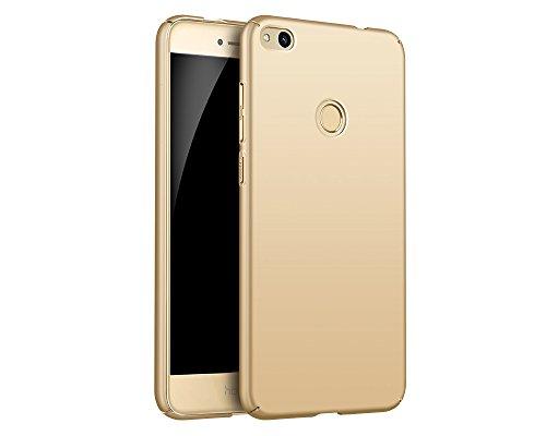 EIISSION Case Kompatibel mit Huawei P8 Lite (2017) Hülle, Hardcase Ultra Dünn Huawei P8 Lite (2017) Schutzhülle aus Hart-PC Case Cover Handyhülle für Huawei P8 Lite (2017) (Gold)