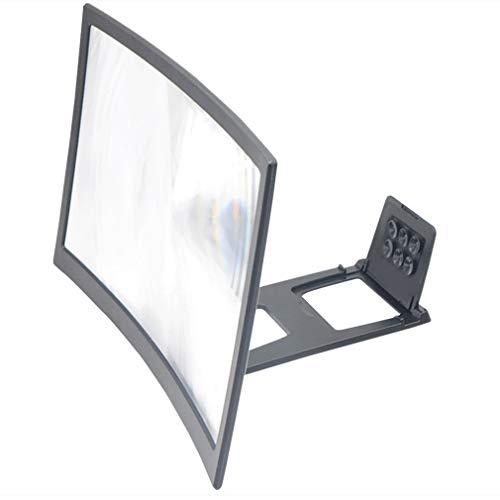 L6 Gebogen scherm Mobiele telefoonversterker 12 inch vergroot scherm Verminder straling Anti Blauwe lens 1 stuk Zwart