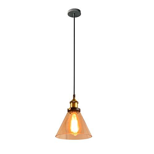 LIUYU Loft Vintage Luces de Cristal Colgante Industrial lámparas de Metal Retro Lustres Colgantes Accesorios E27 D98 (Body Color : 5, Size : Gratis)