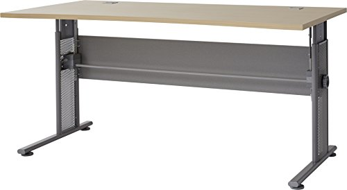 Germania 0650-42 höhenverstellbarer Schreibtisch GW-Profi in der Farbe Ahorn-Nb./Silber, 160 x 70-80 x 80 cm (BxHxT)