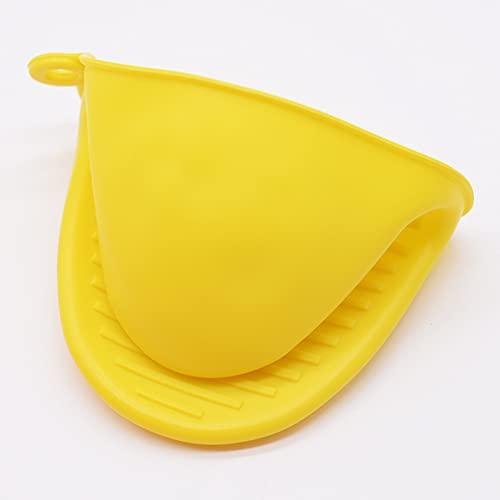 1 x dicker Ofenhandschuh aus Silikon zum Backen, Ofenhandschuh, Mikrowelle, Küchenhelfer, Isolierung, antihaftbeschichtet, rutschfeste Griffe, Schüssel-Topf-Clips (Farbe: E)