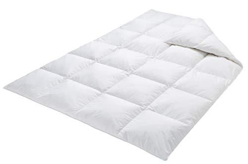 VitaloBett Mittelwarme Daunendecke aus kanadischen Daunen Wärmeklasse 3 medium - 135 x200 cm 900g - luftige Schlafdecke für Allergiker - waschbare Bettdecke- zertifizierte und umweltfreundliche Ganzjahresdecke - made in Germany