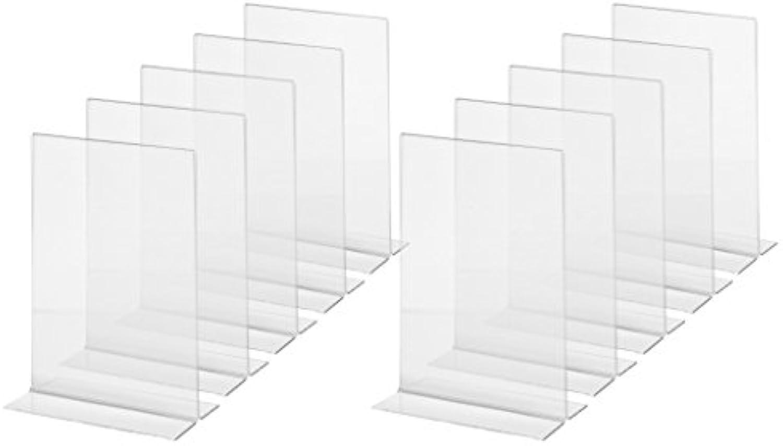 SIGEL TA222 Tischaufsteller gerade, für A5, 10 Stück, glasklar, Acryl - weitere Gren