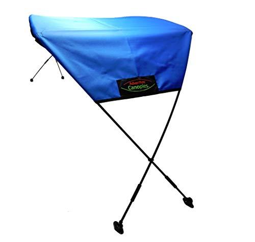 Adventure Canopies Kayak Sun Shade - 10 Foot & Larger Kayaks (Marine Blue, Barracuda: Sit-On/Sit-in w/seat Below top of Kayak)