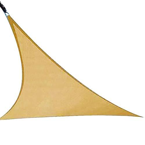 mewmewcat Toldo triangular para jardín, terraza, camping, arena, transpirable, protección solar, protección solar (118 x 118 x 118 cm)