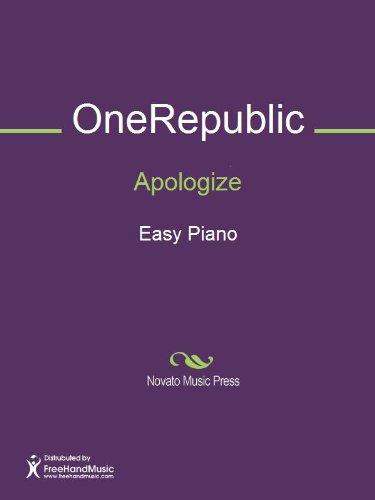 Apologize Sheet Music (Easy Piano) (English Edition)