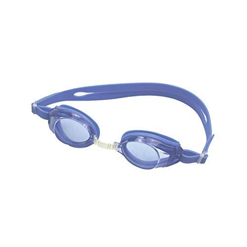Occhialini da nuoto blu in pvc e lenti azzurrate, occhiali da nuoto regolabili con cinturino, occhiali piscina nuoto per adulti e bambini, occhialini piscina impermeabili in pvc, pack in pvc rigido