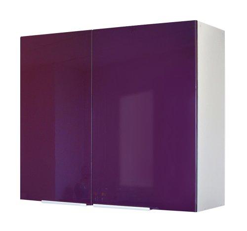 Berlenus CP8HA - Mueble Alto de Cocina (2 Puertas, 80 cm), Color Berenjena Brillante