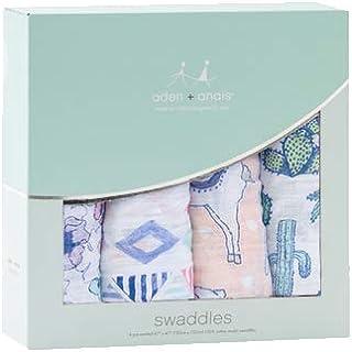 エイデンアンドアネイ おくるみ ブランケット 4セット ギフト 出産祝い ロイヤルベビー swaddle wrap (カラー:Trail Bloom) Aden+Anais [並行輸入品]