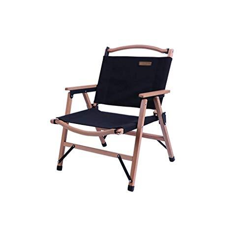 Quik sedia pieghevole portatile sedia da campeggio campeggio zaino sedia con braccioli rigidi imbottiti supporto 117,9 kg/120 kg sedie pieghevoli (colore cachi) ZJ666 (colore : nero)