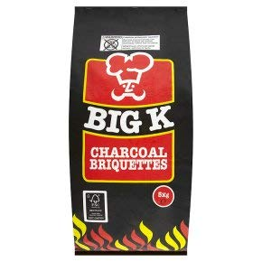 Big K 5 KG Charcoal Briquettes BBQ Bags for Barbeque Starter, Outdoor...