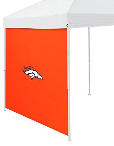Logo Brands NFL Denver Broncos Side Panel, One Size, Carrot