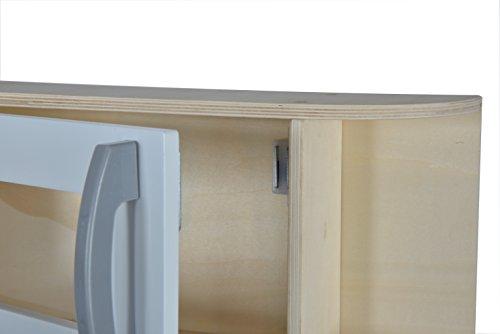 Eichhorn 100002494 - Spielküche aus Holz, Herd mit leuchtenden Herdplatten, Spüle, Backofen und Dunstabzug, 36x69x99cm, Kiefernholz, Birkenholz - 5
