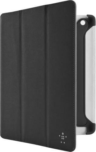 Belkin Pro Colour Duo Tri-fold F8N784cwC00 PU Kunstveloursleder Folio (Standfunktion, Magnet, Auto-wake Funktion) für iPad 4, iPad 3rd Generation, iPad 2 schwarz
