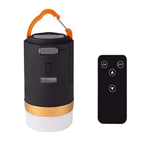 Linterna de Camping LED, USB Batería Lámpara de Exterior Impermeable Banco de Energía para Pesca, Excursionismo con Mando a Distancia
