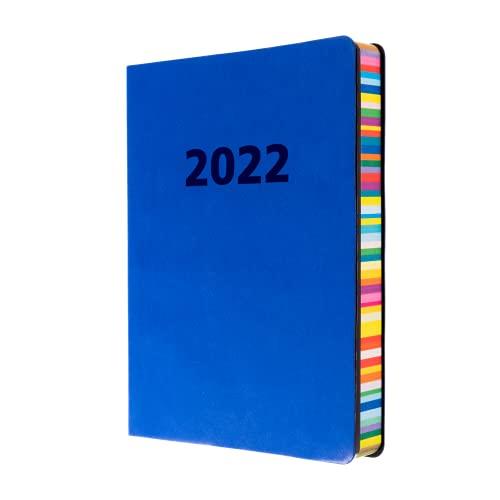 Collins Edge Rainbow A5 Day to Page 2022 Diary – Indigo