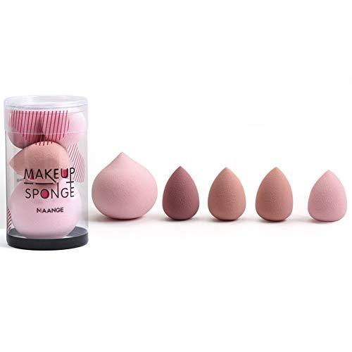 Ensemble d'éponge de maquillage, applicateur d'éponge de mélange cosmétique pour crème liquide, éponge de mélange de fond de teint 5 tailles, correcteur et outil de maquillage en poudre