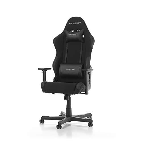 DXRacer Racing Series R01-N Gaming Stuhl aus Stoffbezug, Schwarz