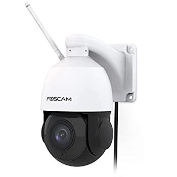 Foscam SD2X 18X Optical Zoom 1080P HD Outdoor PTZ Security Camera 2.4g/5gHz WiFi IP Surveillance camera,Speed Dome 165ft Night Vision IP66 WDR Built-in Audio Works with Alexa Google Assistant