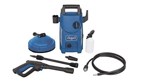 Scheppach Hochdruckreiniger HCE1500 (105 bar, 408 L/h, 3m Schlauch, 1400W, Quick Connect System zum schnellen Wechseln der Aufsätze, inkl. 7 teiligem Zubehör-Set)