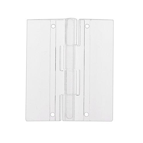 MagiDeal 45x38mm Bisagras de Piano Plexiglás Puerta Plegable Plástico Acrílico