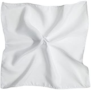 Tarocash Men's Essential Pocket Square White 1 for Going Out Smart Occasionwear