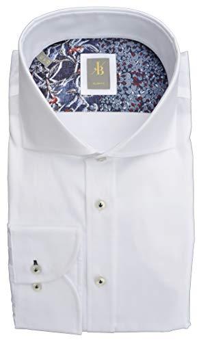 Jacques Britt Herren Hemd Roma Twill Oberhemd Weiß 39