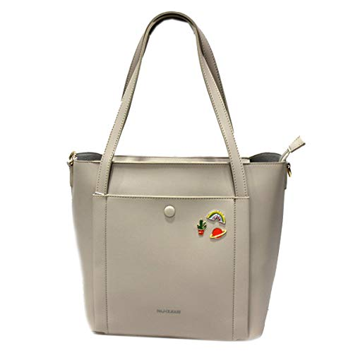 Naj Oleari Borsa donna similpelle shopping grande a mano linea Eva3 61546 sabbia