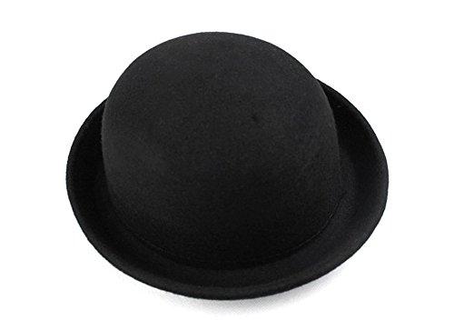 Demarkt Melone 100% Wolle Jazz Tanzen Wolle Bogen Damen Modischer Wintermütze Hut Kappe Mütze Hat (Schwarz)