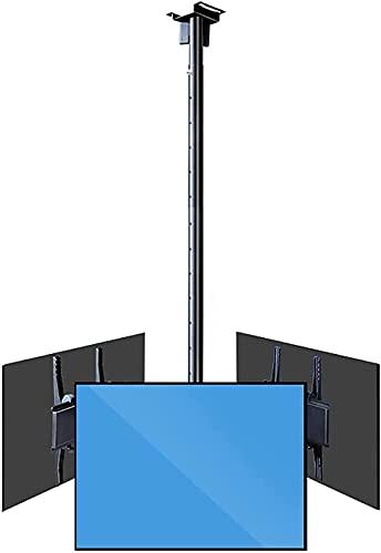 BGDGTP Soporte para TV Soporte para TV de Techo con Tres Pantallas 32'-75' Soporte para TV de rotación inclinable Acero Ajustable (Tamaño: Tres Pantallas)