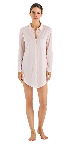 Hanro Damen Cotton Deluxe 1/1 Arm 90 cm Nachthemd, Rosa (Crystal Pink 071334), 36 (Herstellergröße: XS)