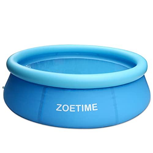 Zoetime Piscina Inflable Piscina Infantil para la Familia, Piscina de Tamaño Completo para la Fiesta Acuática de Verano al Aire Libre Fácil de Montar, 244 x 63cm