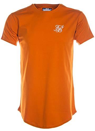 Siksilk Curved HEM Camiseta Hombre