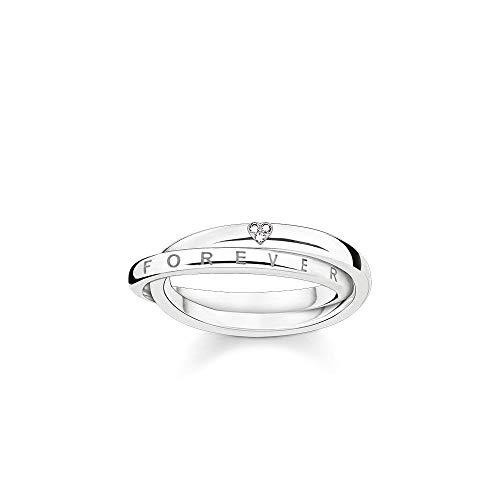 Thomas Sabo Anillo de plata de diamante juntos para siempre D_TR0017-725-14-52