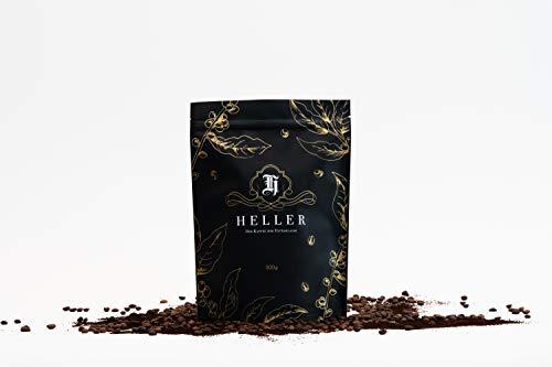 Heller Premium Kaffee I Kaffeebohnen aus Uganda mit füllig, weichem Geschmack I eleganter Bio Kaffee mit süßlichem Charakter I Kaffeebohnen 100% Arabica I keine Zusatzstoffe I Ganze Bohne 500 gramm