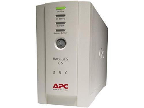 APC Back-UPS CS - BK350EI - Unterbrechungsfreie Stromversorgung 350VA (4 Ausgänge IEC, Überspannungsschutz)