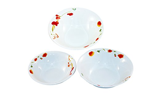 Borella Casalinghi Lido Tris Insalatiere, Ceramica, Bianco, 3 unità