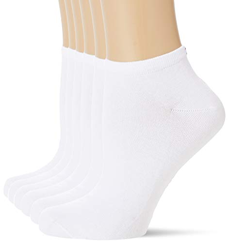 Tommy Hilfiger Womens Women's Sneaker Multipack 6 Pack Casual Sock, White, 35/38