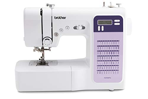 Brother FS70WTX - Máquina de coser y acolchar, color blanco, 49 x 31,8 x 40,4 cm