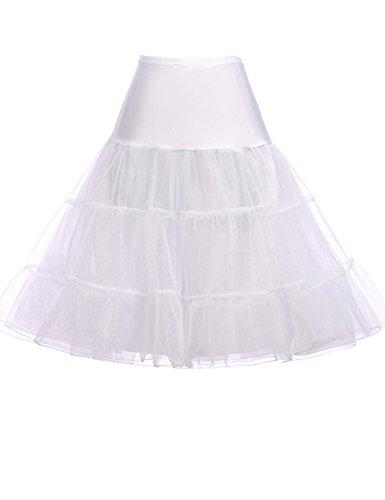 GRACE KARIN Ladies Hoopless Wedding Petticoat for Bridal Dress (XL,White)