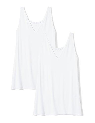 Amazon-Marke: Daily Ritual Women\'s Jersey V-Neck Tank, White/White, Medium