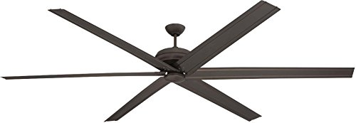 """Colossus Dual Mount 96"""" Large Outdoor Ceiling Fan with Wall Control and Remote Control, 6 Blades, Espresso - Craftmade COL96ESP6"""