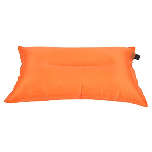Almohada Inflable automática para Exteriores, Yevenr Soft Autoinflation Pillow Almohada Inflable Almohada Inflable portátil Almohada Inflable de Viaje Naranja