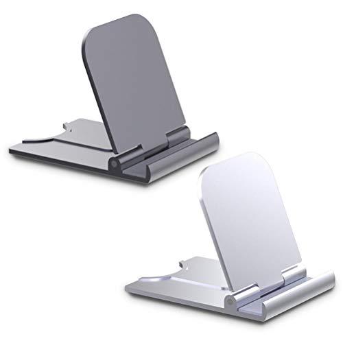 2 soportes para teléfonos celulares, portátiles, plegables, para tablet, escritorio, para smartphone, iPad y oficina