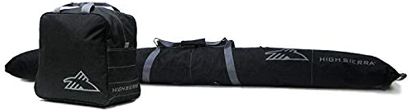 High Sierra Ski Bag & Sku Boot Bag Combo, Black/Black, One Size