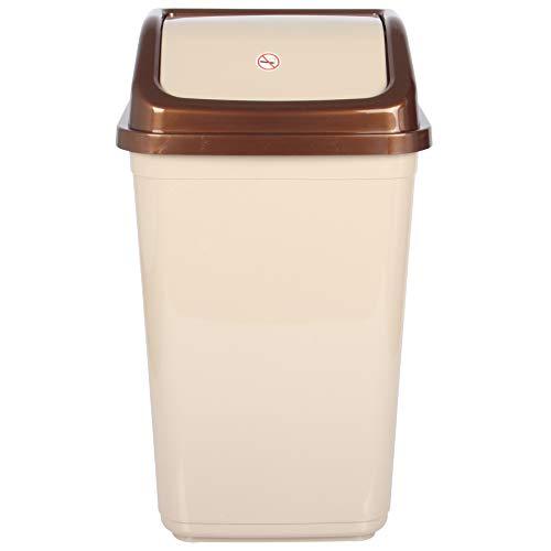 Mülleimer mit Schwingdeckel, Kunststoff, 50 l, Beige
