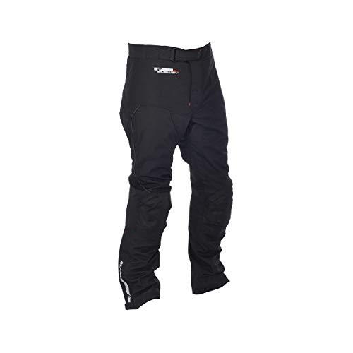 Oxford Pantalones de Tela de Metro para Hombre de Pierna Larga (Negro, XXXL/Talla 42)