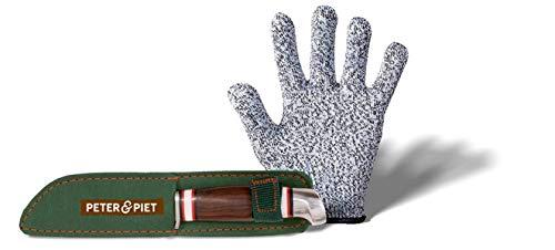 Peter & Piet Schnitzmesser-Set für Kinder: mit Schnitzhandschuh