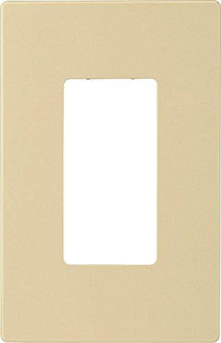 EATON PJS26V Arrow Hart Pjs26 Decorative Screw less Wall Plate, 1 Gang, 4-1/2 In L X 2-3/4 In W X 0.08 In T, Ivory
