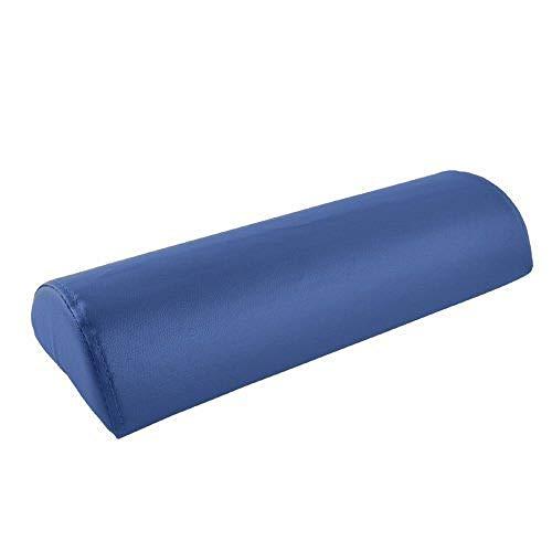 Teqler T-125804BL Coussin de positionnement demi-cylindrique 40 x 22 x 11 cm, bleu